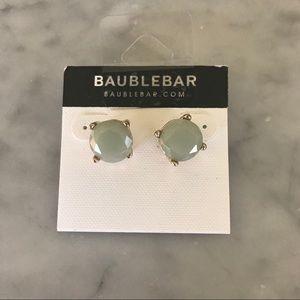 Baublebar Green Gold Round Stud Earrings